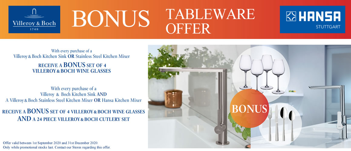 Villeroy & Boch and Hansa Bonus Tableware Offer